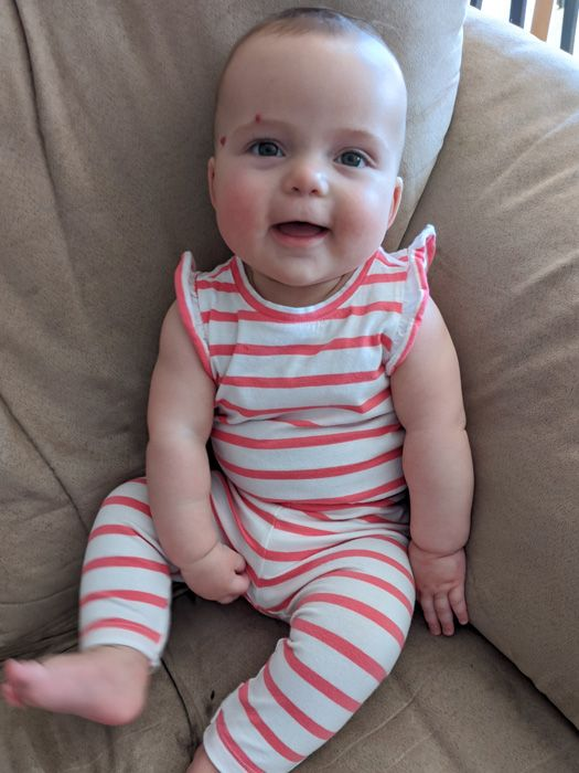 Emelia at seven months